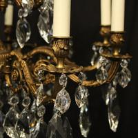 Italian Gilded 15 Light Antique Chandelier (8 of 10)