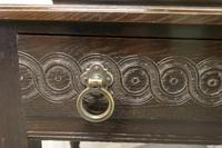 Carved Gothic Oak Side Table (8 of 8)