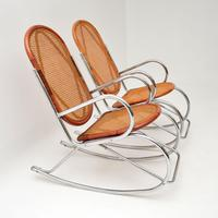 1970's Pair of Retro  Chrome & Bamboo Rocking Chairs (4 of 13)