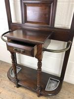 Antique Edwardian Mahogany Mirror Hall Stand (7 of 9)