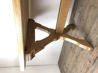 Solid Oak Table on X Frame Base (2 of 9)