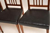 Set of 4 Antique Mahogany & Leather Dining Chairs (11 of 11)