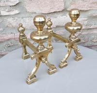 19th Century Brass Fire Dogs