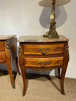 Pair of Marble Topped Bedside Cabinets (6 of 6)