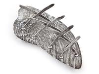 Victorian Silver Plated Toast Rack Shaped as a Bird Wing Engraved with Feathers (2 of 10)
