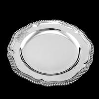 Antique Solid Silver Dish with Coat of Arms for Michael Bass, 1st Baron Burton - Garrard 1888 (8 of 21)