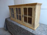 Wall Hanging 3 Door Kitchen / Bathroom Antique Pine Cabinet to wax / paint