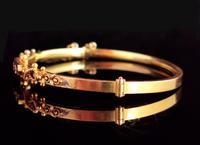 Antique Diamond Bangle 15ct Gold, Edwardian (6 of 12)