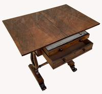Lovely William IV Rosewood Card & Work Table (5 of 9)
