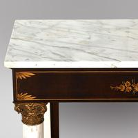 A Mahogany Console Table with Marble Top (5 of 5)