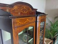 Edwardian Inlaid Display Cabinet (2 of 6)