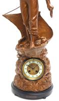 Incredible French Figural Mantel Clock Cod Fishing  8 Day Striking Mantle Clock (9 of 13)