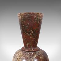 Pair of Antique Decorative Posy Vases, English, Granite, Flower Urn, Victorian (11 of 12)