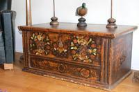 19th Century Austrian Folk Art Painted Pine Coffer (4 of 23)