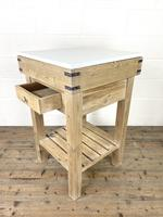 Rustic Wooden Butcher's Block with Marble Top (8 of 10)