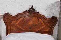 Lovely Quarter Veneer Louis XV Style Double Bed (7 of 10)