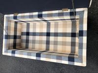 Mahogany Upholstered Sarcophagus Blanket Box (7 of 8)