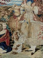 Large Beautiful Framed Original 19thc German Berlin Needlework Tapestry Picture (9 of 15)
