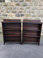 Pair of Antique Oak Open Bookcases