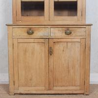 Arts & Crafts Pine Glazed Bookcase School Display Cabinet Dresser (3 of 12)