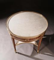 Exceptional Gervais Durand 19th Century Mahogany & Gilt Bronze Gueridon Bouillotte Table (9 of 17)