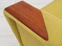 Danish high-backed armchair, reupholstered, 70s (8 of 14)
