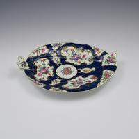 Large First Period Worcester Porcelain Blue Scale Leaf Dish c.1770 (7 of 8)