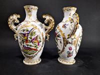Pair of Hand Painted Porcelain Vases (6 of 6)