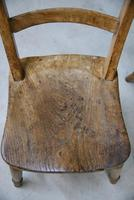 4 Rustic Elm Country Kitchen Chairs (12 of 14)