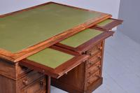 Victorian Mahogany Pedestal Kneehole Desk (4 of 9)
