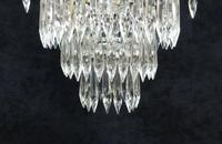 Italian Art Deco Three Tier Crystal Glass Chandelier (6 of 7)