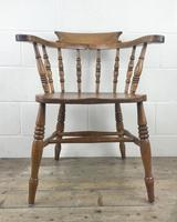 Antique Beech and Elm Smoker's Bow Armchair (16 of 16)