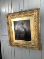 Antique Re-Raphaelite oil painting portrait of a young man with violin (2 of 2) (7 of 10)