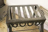 Antique Steel Fireplace Footman. Kettle and Plate Trivet. Welsh Folk Art (7 of 10)