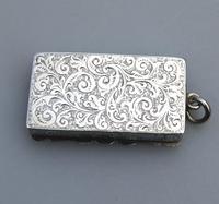 A Superb & Rare Victorian Novelty Solid Silver Vesta Box Lawrence Emanuel C.1888 (5 of 7)