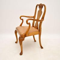 Antique Burr Walnut Dining Table & Chairs by Epstein (15 of 15)