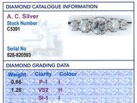 1.92ct Diamond & 18ct Yellow Gold Five Stone Ring - Vintage c.1940 (6 of 9)