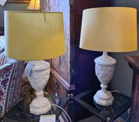 Pair of Plaster Moulded Lamps c.1930 (5 of 5)