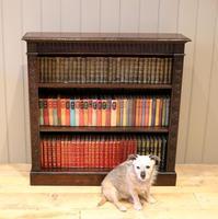 Dark Oak Open Bookcase (11 of 11)