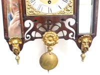 Very Rare English Fusee 5 Inch Dial Wall Clock Mahogany Gothic Ormolu Wall Clock by James Parker Cambridge (4 of 12)