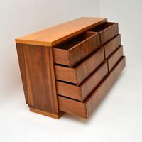1950's Vintage Walnut & Satin Birch Chest of Drawers (7 of 11)