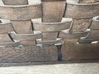 Art Deco Original English Handmade Oak & Leather Strapped Brass Studded Footstool (22 of 22)