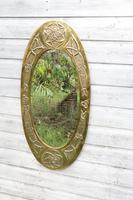 Arts & Crafts Movement Scottish / Glasgow School Large Oval Wall Mirror c.1900 (11 of 28)