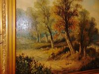 Large Victorian Oil Landscape by W.Wilson (4 of 5)