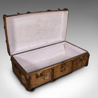 Large Antique Steamer Trunk, English, Cedar, Shipping Chest, Edwardian c.1910 (8 of 12)