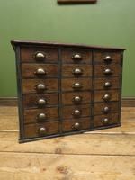 Reclaimed Scratch Built Bank of Drawers, Industrial Crafting or Tool Drawers (13 of 16)
