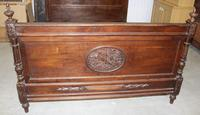 1900's King Size Carved Oak Empire Style Bed Frame (3 of 4)