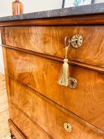 Antique Flamed Mahogany Chest of Drawers / Washstand / Commode With Marble (4 of 5)