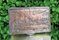 Rare French F Morel Solid Silver Last Supper Scense Lud Snuff Box (15 of 18)