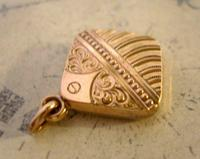 Antique Pocket Watch Chain Fob 1890 Victorian 10ct Rose Gold Filled Puffy Fob (6 of 10)